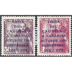 1951 Spanien 985/986  Kanarische 2ª  ** Perfekter Zustand  (Michel)