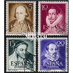 1950 Spanien 974, 994/995, 1018  Literaten Persönlichkeiten © Gebrauchte, Zustand  (Michel)