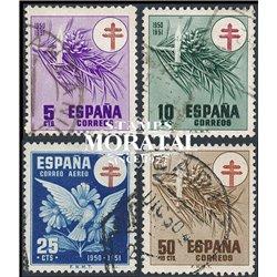 1950 Spanien Zwangszuschlagsmarken52/54  Pro-Tuberkulose Wohltätigkeit © Gebrauchte, Zustand  (Michel)