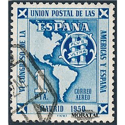 1951 Spain C131  U.P.A.E.P. Organizations © Used, Nice  (Scott)