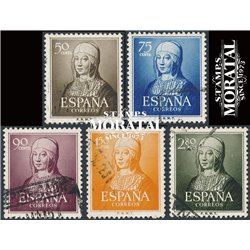 1951 Spain 781/785  Isabel Kings © Used, Nice  (Scott)