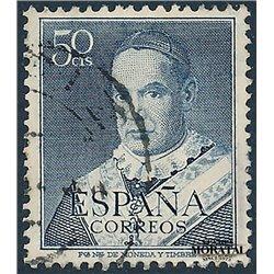 1951 Spanien 996  Weinrot Persönlichkeiten © Gebrauchte, Zustand  (Michel)