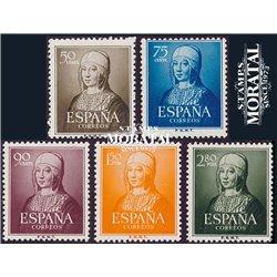 1951 Spanien 989/993  Isabel Könige ** Perfekter Zustand  (Michel)