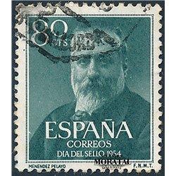 1954 Spanien 1038  Menéndez Persönlichkeiten © Gebrauchte, Zustand  (Michel)
