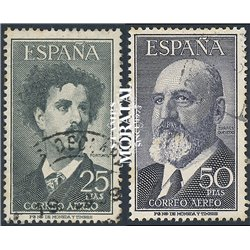 1955 Spain C158/146  Fortuny / Torres Quevedo Personalities © Used, Nice  (Scott)