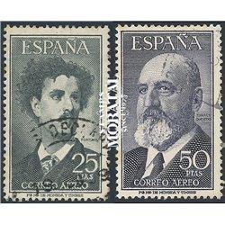 1955 Spanien 1070/1056  Fortuny / Torres Quevedo Persönlichkeiten © Gebrauchte, Zustand  (Michel)