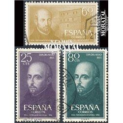 1955 Spanien 1062/1064  Ignatius von Loyola Religiös © Gebrauchte, Zustand  (Michel)