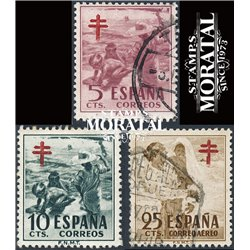 1951 Spain RA32/C12  Pro tuberculosis Charity © Used, Nice  (Scott)