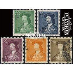 1952 Spanien 1003/1001  Fernando Könige © Gebrauchte, Zustand  (Michel)