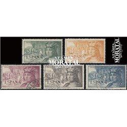 1952 Spanien 1013/1017  Fernando-Luft Könige © Gebrauchte, Zustand  (Michel)