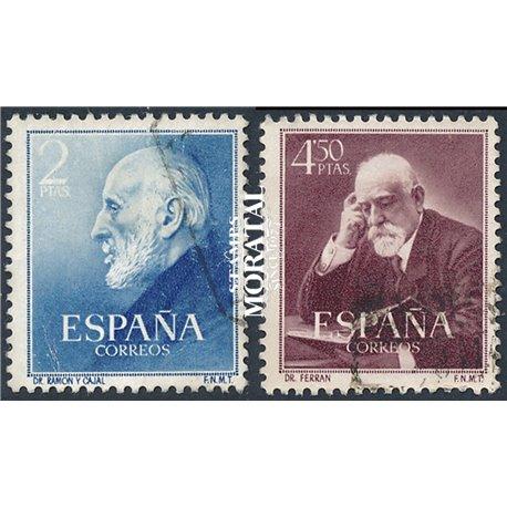 1952 Spain 793/794  Cajal/Ferran Personalities © Used, Nice  (Scott)