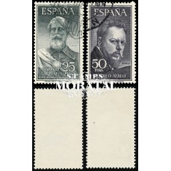 1953 Spain C145/144  Legazpi / Sorolla Personalities © Used, Nice  (Scott)