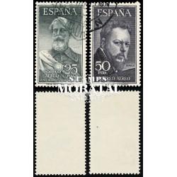 1953 Spanien 1019/1020  Legazpi / Sorolla Persönlichkeiten © Gebrauchte, Zustand  (Michel)