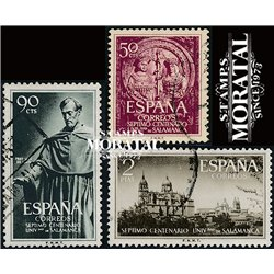 1953 Spanien 1021/1023  Universität Kloster-Tourismus © Gebrauchte, Zustand  (Michel)