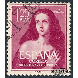 1954 Spanien 1024  Ribera Gemälde © Gebrauchte, Zustand  (Michel)