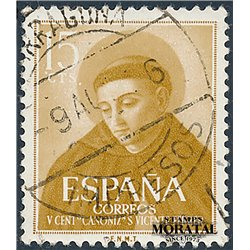 1955 Spain 842  San Vicente Ferrer Religious © Used, Nice  (Scott)