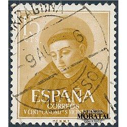 1955 Spanien 1068  San Vicente Ferrer Religiös © Gebrauchte, Zustand  (Michel)