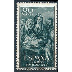 1955 Spain 843  Christmas Christmas © Used, Nice  (Scott)