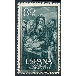 1955 Spain 843  Christmas Christmas © Used, Nice  (Scott)