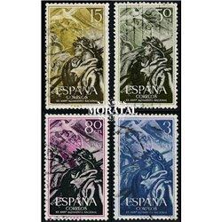 1956 Spanien 1084/1087  Aufstand  © Gebrauchte, Zustand  (Michel)