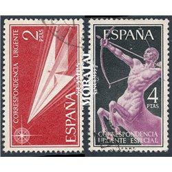 1956 Spain E21/22  Allegories  © Used, Nice  (Scott)