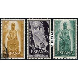 1956 Spanien 1089/1091  Montserrat Kloster-Tourismus © Gebrauchte, Zustand  (Michel)