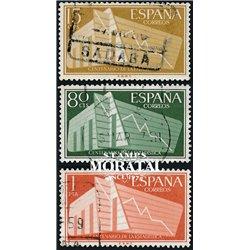 1956 Spain 853/855  Statistics  © Used, Nice  (Scott)