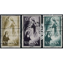 1957 Spain 863/865  Sacred Heart Religious © Used, Nice  (Scott)