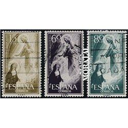 1957 Spanien 1103/1105  Heiliges Herz Religiös © Gebrauchte, Zustand  (Michel)