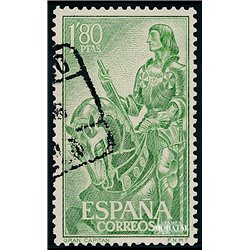 1958 Spain  Sc 866 Grand Captain Personalities (o) Used, Nice  (Scott)