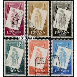 1956 Spain 857/862  Pro children Charity © Used, Nice  (Scott)