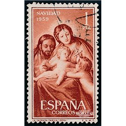 1959 Spain  Sc 908 Christmas Christmas (o) Used, Nice  (Scott)