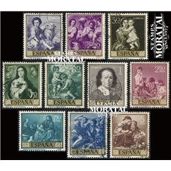 1960 Spain 921/930  Murillo Painting © Used, Nice  (Scott)