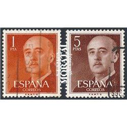 1960 Spanien 1050b/1053c  General Franco-B Serie Gene © Gebrauchte, Zustand  (Michel)