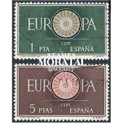 1960 Spanien 1189/1190  Europa Europa © Gebrauchte, Zustand  (Michel)