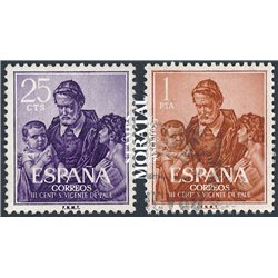 1960 Spain  Sc 943/944 Vicente Paul Religious (o) Used, Nice  (Scott)