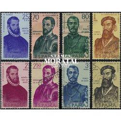 1960 Spanien 1193/1200 Entdecker Persönlichkeiten © Gebrauchte, Zustand  (Michel)