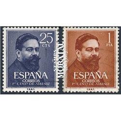 1960 Spanien 1215/1216 Albéniz  © Gebrauchte, Zustand  (Michel)