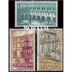1960 Spain  Sc 965/967 Samos Monastery-Tourism (o) Used, Nice  (Scott)