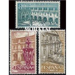 1960 Spanien 1217/1219  Samos Kloster-Tourismus © Gebrauchte, Zustand  (Michel)