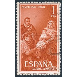 1960 Spain  Sc 968 Christmas Christmas (o) Used, Nice  (Scott)