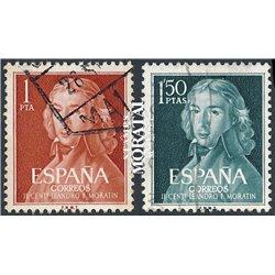 1961 Spanien 1223/1224  Moratin Persönlichkeiten © Gebrauchte, Zustand  (Michel)