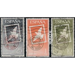 1961 Spain 987/989  Day of the stamp Philately © Used, Nice  (Scott)