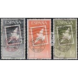 1961 Spanien 1243/1245  Tag der Briefmarke Philatelie © Gebrauchte, Zustand  (Michel)
