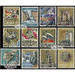 1961 Spanien 1248/1259  Aufstand  © Gebrauchte, Zustand  (Michel)