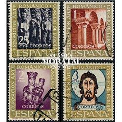 1961 Spanien 1260/1263  Romanische Tourismus © Gebrauchte, Zustand  (Michel)