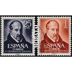 1961 Spain 1008/1009  Gongora Personalities © Used, Nice  (Scott)