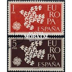 1961 Spanien 1266/1267  Europa Europa © Gebrauchte, Zustand  (Michel)
