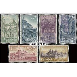 1961 Spanien 1277/1282  Escorial Kloster-Tourismus © Gebrauchte, Zustand  (Michel)