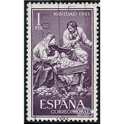 1961 Spain 1039 Christmas Christmas © Used, Nice  (Scott)